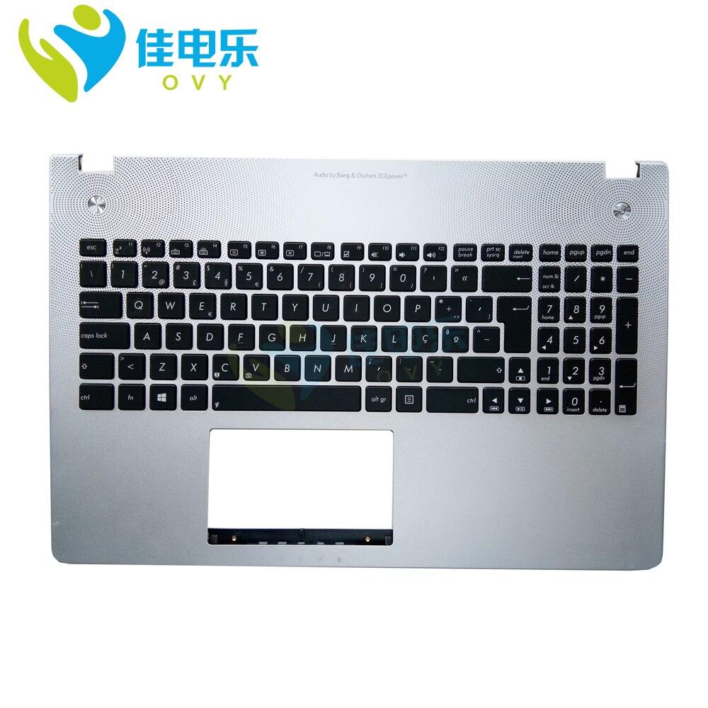 N56JK Клавиатура для ноутбука n56v n56vv n56vb n56vz N56JR n56vm PO Portugal клавиатура с подсветкой Подставка для рук верхний корпус 90NB06D5 R31PO0|Клавиатуры для замены|   | АлиЭкспресс