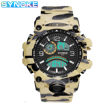 SYNOKE G military style Shock Watches Men Digital Sports outdoor Wristwatch Male Clock Waterproof Men's Watch Stopwatch Rubber military grade anti shock case for casio watch g shock smart watch chronograph sports camouflage tactical military stopwatch