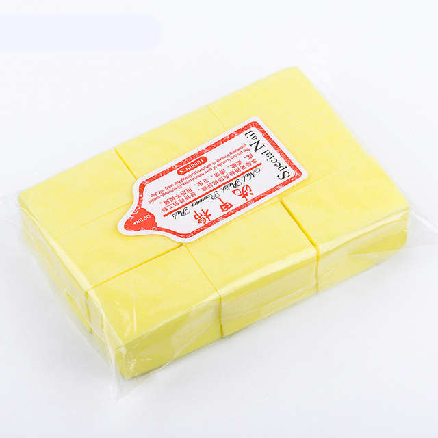 Nail Polish Remover Wipes Cleaning Lint Free Paper Pad Soak off Remover Manicure tool 6