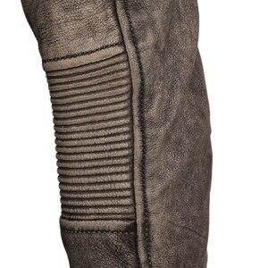 Image 5 - ヴィンテージユーズド加工オートバイの革のジャケット厚い 100% 天然牛革スリムモトバイカー革コート男性冬服 M217