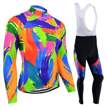 Jersey térmico de lana para Ciclismo para mujer, conjunto de Ropa para...