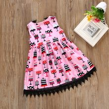 Baby girl dresses summer girls dresses for party and wedding cotton dress kids dress girls clothes(China)