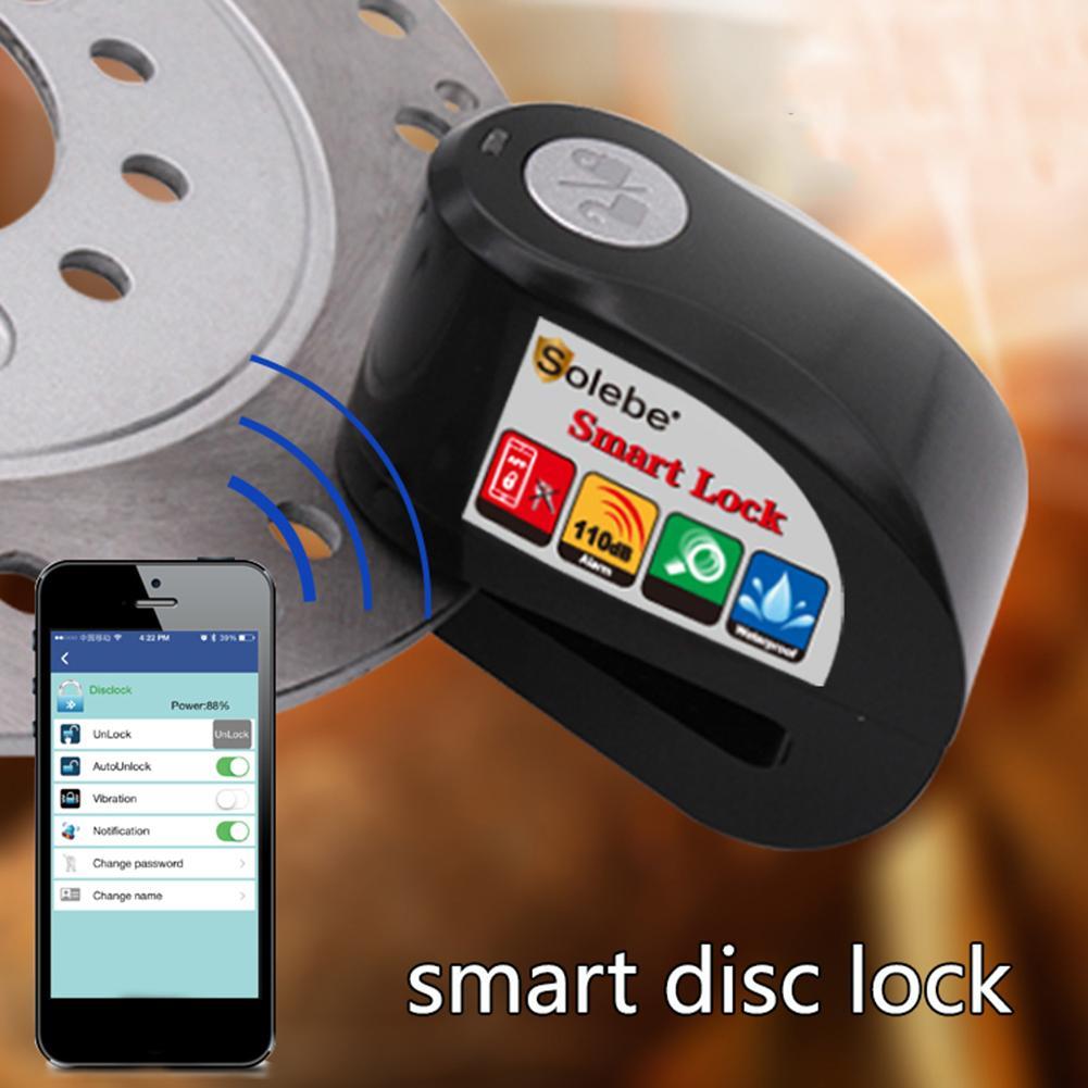Anti-theft Bluetooth Phone Control Motorcycle Motorbike Disc Brake Alarm Lock