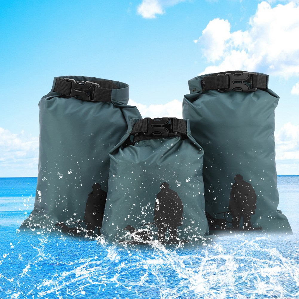 3 piezas conjunto bolso seco impermeable Paquete de saco de natación Rafting kayak río Trekking flotante vela canoas de navegación de resistencia al agua Mochilas de ortopedia para niños 2019, mochilas para niños, mochilas para niños en primaria, mochilas impermeables para niñas y niños, mochilas infantiles