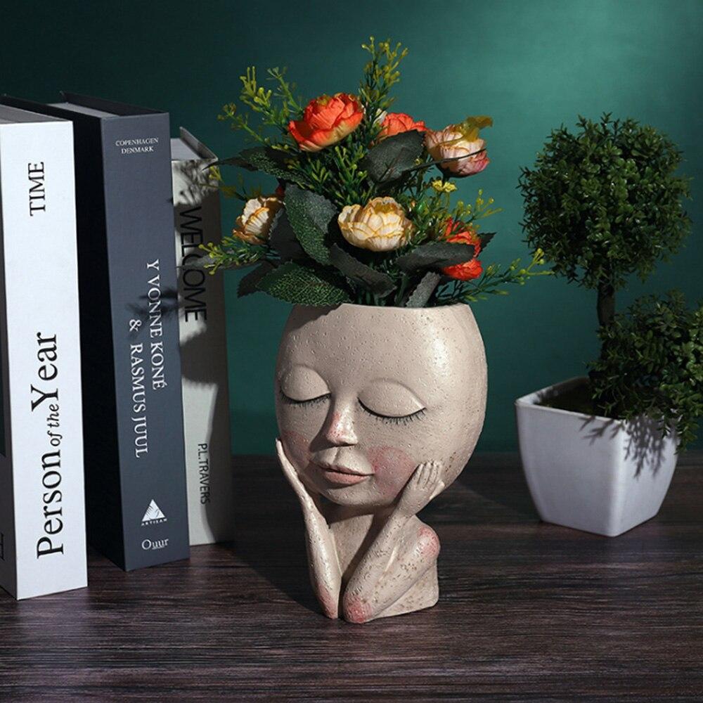 Купить ваза с человеческим лицом украшение большие глаза кукла каучуковый