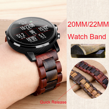Wood Wrist Strap For Xiaomi Huami Amazfit GTR 47MM Stratos 3/2/2S Smart Watch Band Replaceable Straps For Amazfit Bip/Bip S GTS