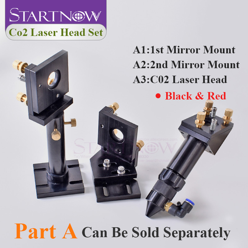 CO2 Laser Head Set / Reflective Mirror & Focusing Lens Integrative Fixture Mount Holder For Laser Engraver Cutting Machine Parts