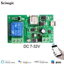 DC12V 24V modulo interruttore relè Wifi APP eWeLink telecomando Inching relè di ritardo Wireless autobloccante per casa intelligente intelligente