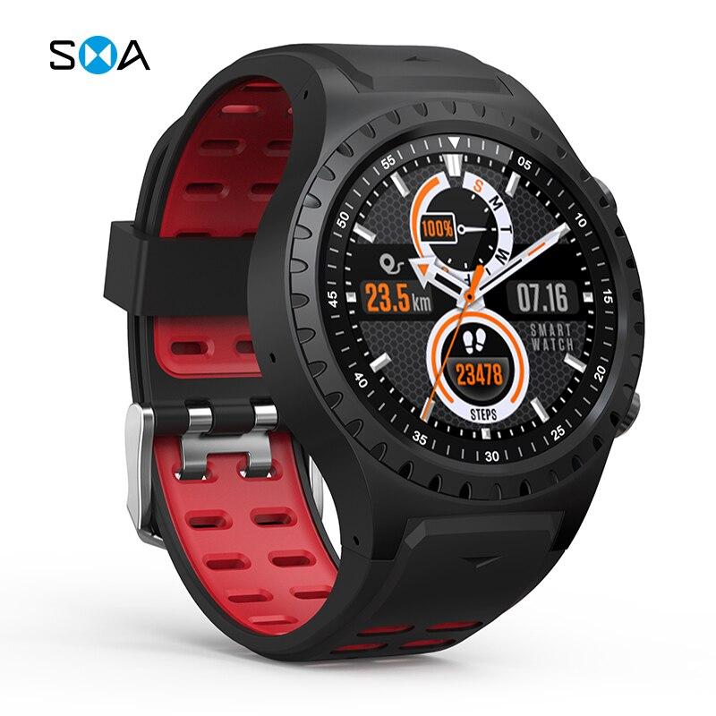 SMA M1S Smart Watch Support SIM Card Bluetooth Call Waterproof Weather Heart Rate Monitor GPS Watch Sports Smartwatch