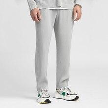 IEFB – vêtements pour hommes, tissu japonais extensible et plissé, style fin, jambes larges, pantalons droits plissés, Y3059 JF150