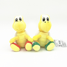 15cm High Soft Marios Red Green Tortoise Turtle Koopa Troopa Plush Doll Toy
