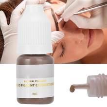 Encre de tatouage Semi-permanente pour sourcils, maquillage permanent, encre pigmentée pour lèvres et yeux, couleur, Microblading, 8ml