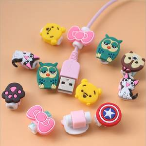 Protector Sleeve-Cover Cable-Winder-Protective-Case-Saver Earphone Data-Line Cartoon Charger