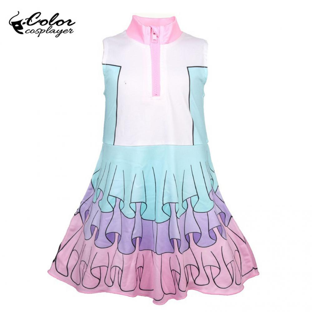 Color Cosplayer Children's LOL Costume Cosplay For Girls Cute Dresses Pink Clothes Little Kids Party Purim Costumes