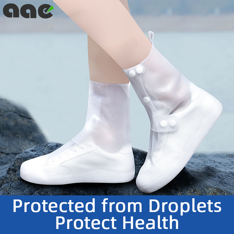 Waterproof <font><b>Shoe</b></font> Cover Silicone <font><b>Material</b></font> Unisex <font><b>Shoes</b></font> Protectors Rain Boots Outdoor Snow Rainy Days Non-slip <font><b>Shoe</b></font> Cove Washable image