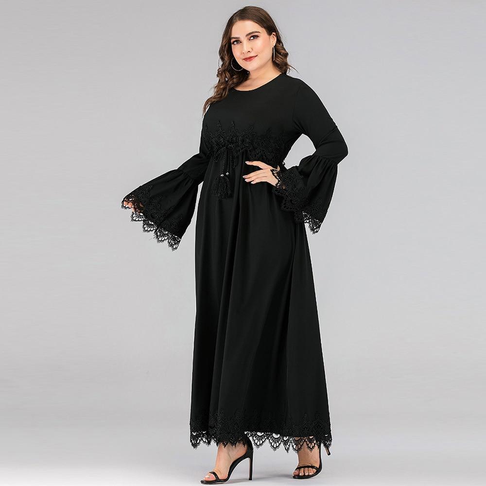 Black Kaftan Dubai Abaya Hijab Muslim Dress Turkish Islamic Clothing Abayas For Women Ramadan Vestidos Vetement Femme Musulmane