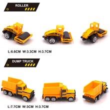 6 в 1 металлический литой инженерный игрушечный автомобиль 6 шт. сплав мини-Инженерная модель автомобиля игрушка 1: 64 самосвал вилочный погрузчик экскаватор