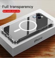 Funda de teléfono móvil transparente para IPhone 12 Pro Max, carcasa protectora a prueba de golpes para IPhone 12 Mini 12 Pro