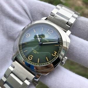 Steeldive diver relógio de aço inoxidável masculino automático mecânico 20 barra vidro safira luminoso