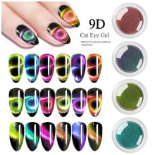 1 doos 9D Galaxy Cat Eye Nagel Gel Poeders Chameleon Magnetische Glitter Poeders UV Gel Magneet Nail Art Pigmenten Manicure decoraties(China)