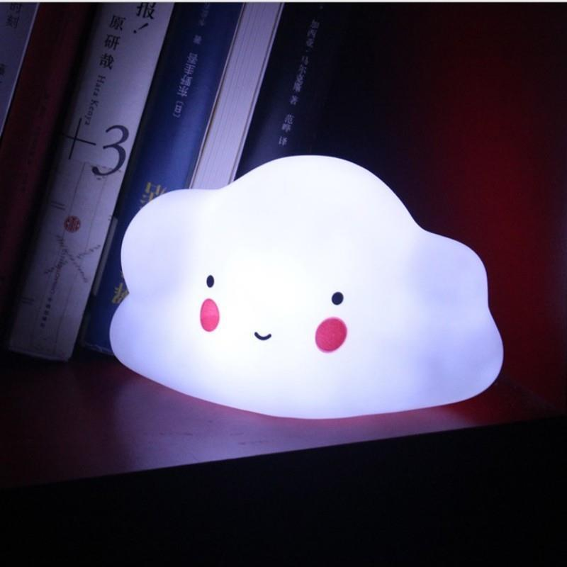 Soft Silicone LED Cloud Night Light Baby Nursery Bedside Lamps Deformable Portable Lights Toys Home Decoration For Kids