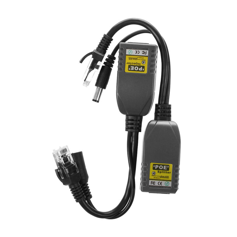 2 X PoE Power Through Ethernet Cable Passive PoE Injector Splitter Adapter 10 / 100Mbps