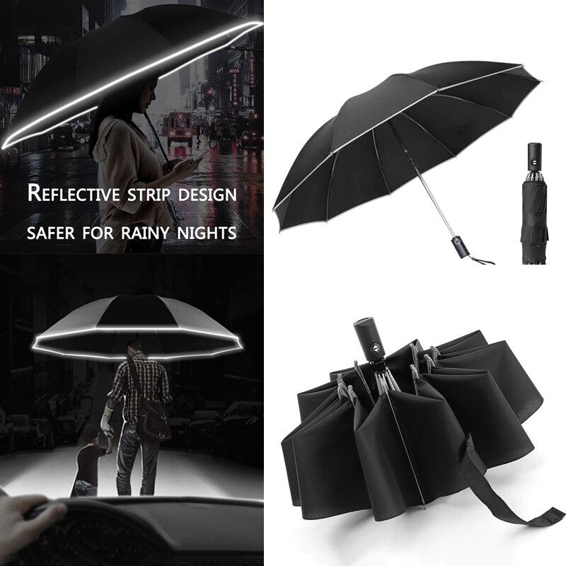 УФ складной автоматический зонт от дождя и ветра, зонты от солнца, 10 скоростей, портативный Зонт с отражающей полосой|Смарт-гаджеты|   | АлиЭкспресс - Лучшие гаджеты-2020