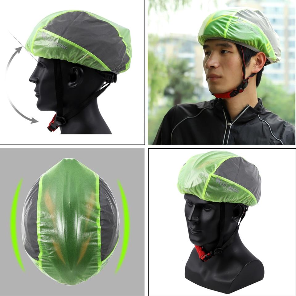 Reflective Bike Helmet Cover Waterproof Windproof Bicycle Helmet Rain Cover/_hg