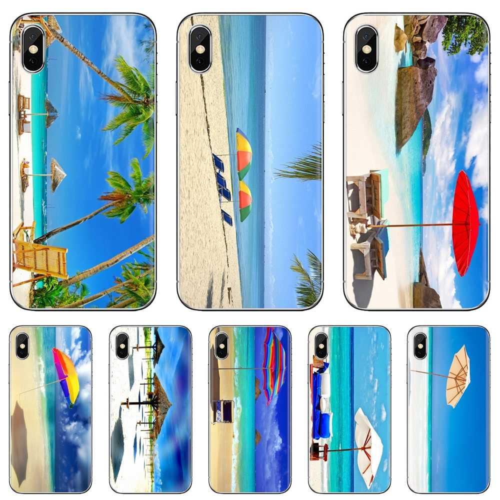 Sun Umbrella Beach Wallpaper Art Print Soft Tpu Cover For Samsung Galaxy J1 J2 J3 J4 J5 J6 J7 J8 Plus 2018 Prime 2015 2016 2017 Fitted Cases Aliexpress