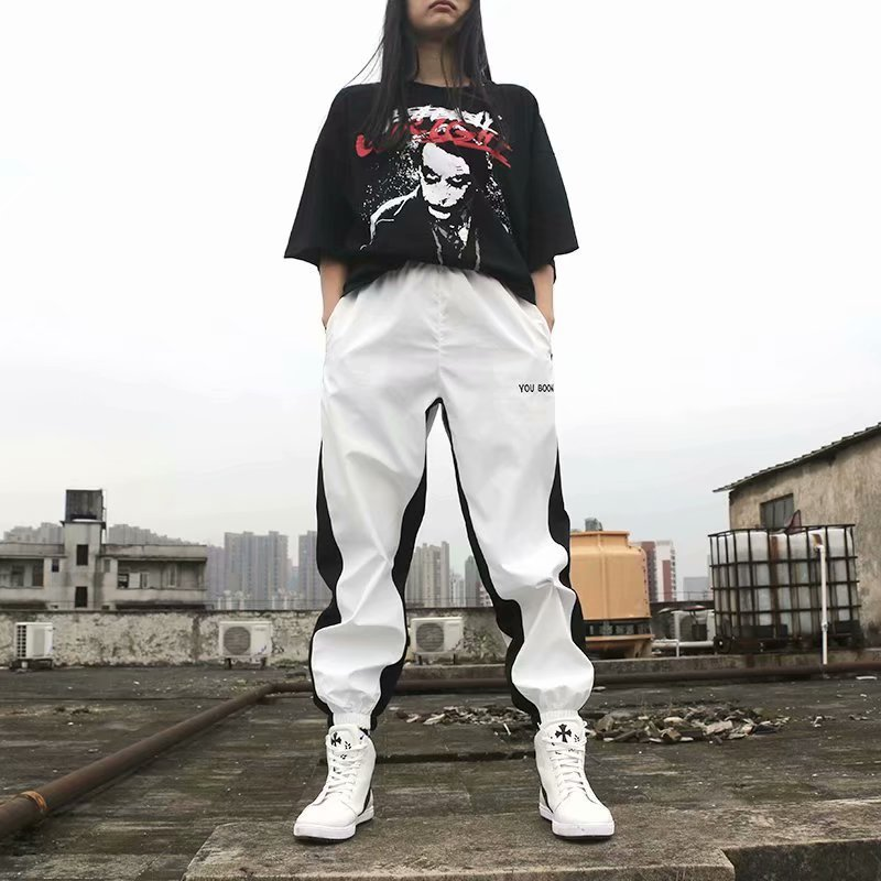 2019ss National Trends INS Super Fire Athletic Pants Men And Women Popular Brand Retro Loose Hip Hop Casual Couples Beam Leg