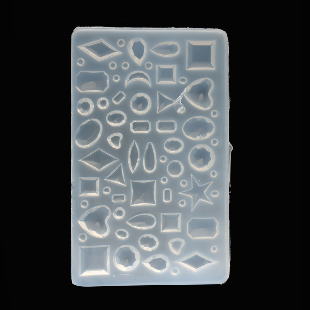 DIY Oval/Heart/Water Droplets Cabochon Semicircle Silicone Chocolate Mold Mould For Epoxy Resin Jewelry Making