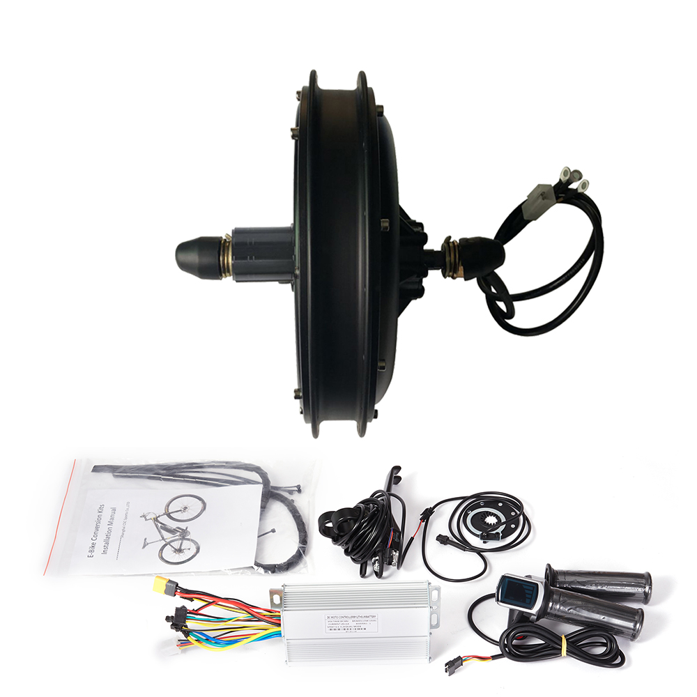 Electric bike Conversion Kit 48V 500W 1000W 1500W e-bike Kit front or Rear freewheel cassette Hub Brushless motor LED(China)