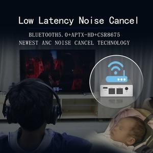 Image 4 - DISOUR CSR8675 Aptx HD محول لاسلكي 3.5 مللي متر AUX 5.0 2 في 1 الصوت بلوتوث استقبال الارسال AAC SBC الكمون المنخفض لسيارة TV