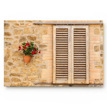 Windows Walls Yellow Wood Ancient European Buildings Flowers Ltalian Plants Bathroom Decor Rug Mat with Non Slip Rubber(China)