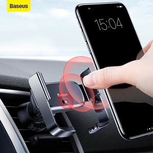 Image 1 - Baseus Car Phone Holder Air Vent Mount Support Bracket Car Charging for IP for Samsung Automatic Mini Car Phone Holder Accesorie
