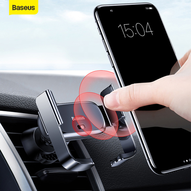Baseus Car Phone Holder Air Vent Mount Support Bracket Car Charging for IP for Samsung Automatic Mini Car Phone Holder Accesorie