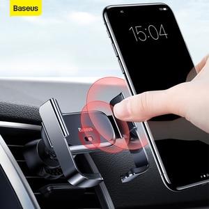 Image 1 - Baseus حامل هاتف السيارة تنفيس الهواء جبل دعم قوس سيارة شحن ل IP لسامسونج التلقائي سيارة صغيرة حامل هاتف الملحقات