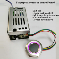 DC10V-30 Biometric fingerprint control module 200 Users Smart electric lock DIY  door lock home car motorcycle automation