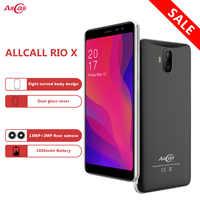 "En Stock AllCall Rio X 5,5 ""18:9 1GB de RAM 8GB ROM Android 8,1 MTK6580M Quad Core cámaras duales 13MP + 5MP 2850mAh 3G teléfono móvil"