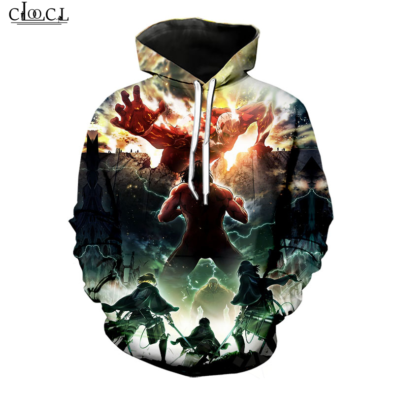 Attack On Titan Hoodies Men/Women Classic Anime Character 3D Print Hoodie Casual Streetwear Harajuku Pullovers B209