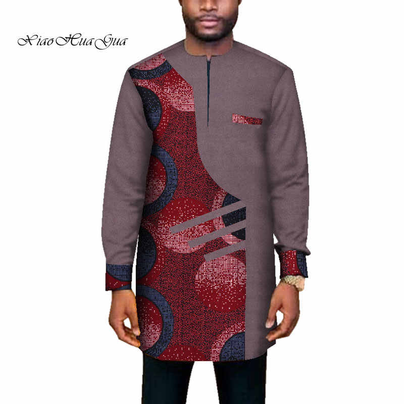 2020 Trend African Men Clothes Male Long SleevePatchwork Dashiki ...