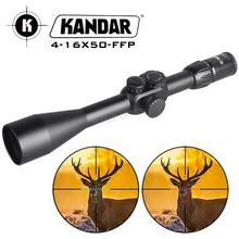 лучшая цена Hunting Riflescope 4-16x50 FFP Scope With Red Dot First Focal Plane Optics With 11 or 20MM Rail Black Rifle Scope