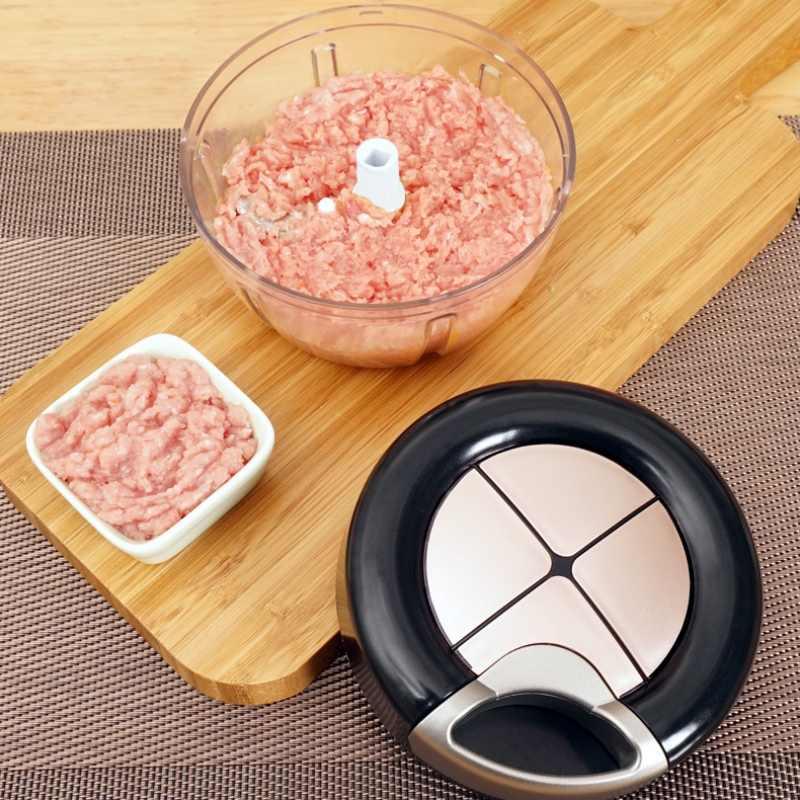 Choppers Vegetais Trituradora Manual Picadora de Alimentos de Cozinha Moedor de Carne Casa Multifuncional Máquina de Carne Processador de Alimentos Triturador