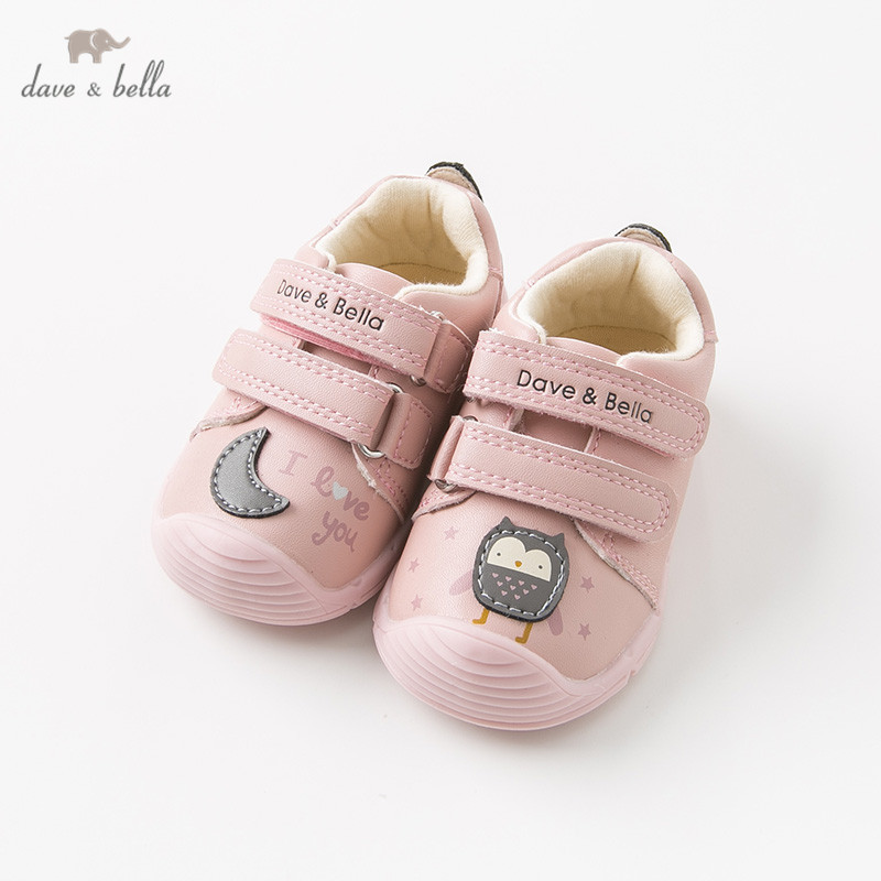 DB11927 Dave Bella Autumn Winter Baby Girl Pink Sport Shoes Shoes New Born Girl  Casual Solid Shoes