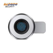 Mini caja de huella dactilar de aleación de Zinc, cerradura eléctrica biométrica, 20 usuarios para cajón de armario, strongbox