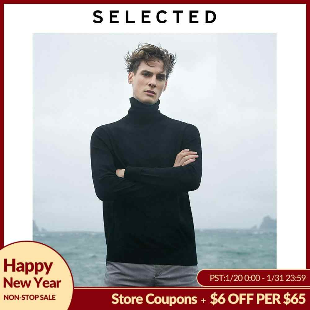 SELECTED New 100% Wool High-necked Knitted Pullovers Men's Turtleneck Winter Sweater  S | 419424553