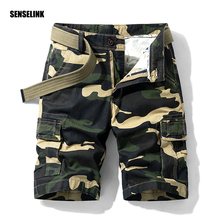 Mens Army Shorts Multi Pocket Military Camouflage Brand Cotton Cargo Shorts 2021 Summer Fashion Casual Tactical Shorts Plus Size