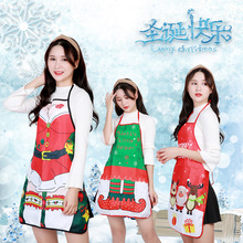Christmas Kitchen Apron Santa Claus Sprons For Women Adult Xmas Decoration Aprons Cooking Baking Cleaning Accessories цена