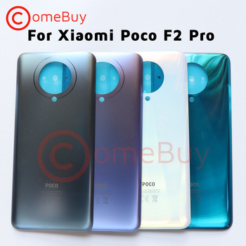 For Xiaomi Poco F2 Pro Back Battery Glass Cover Rear Housing Door Case For Poco F2 Pro Battery Cover Pocophone Replacement Parts