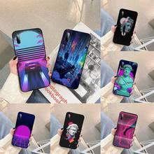 Vaporwave Glitch Phone Case For Samsung S note S10E 6 7 8 9 10 20 plus edge lite Cover Fundas Coque
